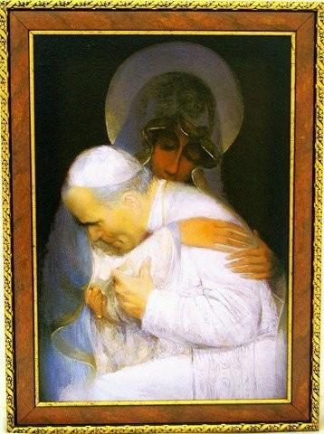 """medjugorje e' il centro spirituale del mondo, giovanni paolo secondo, immagine del papa abbracciato alla madonna, giovanni paolo secondo e medjugorje, Beato Giovanni Paolo II: """"medjugorje e' il centro spirituale del mondo"""","""